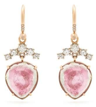 Irene Neuwirth Diamond, Tourmaline & Rose Gold Earrings - Womens - Rose Gold