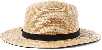 Ralph Lauren Woven Straw Boater Hat $68 thestylecure.com