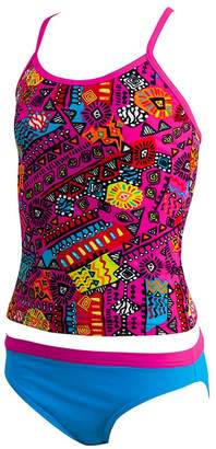 Zoggs Girls Tribal Art Tankini Set