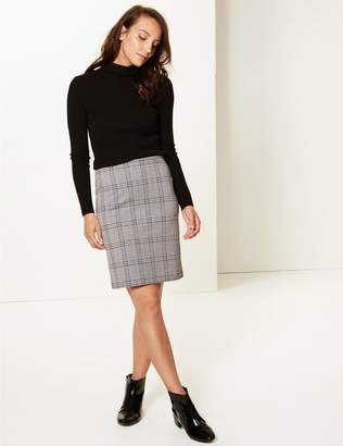 Marks and Spencer Checked Jersey A-Line Mini Skirt