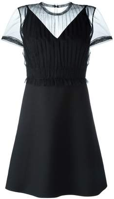 Valentino sheer panel dress