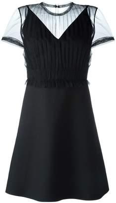 Valentino sheer panel dress