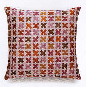 Maharam Quatrefoil Pink Pillow
