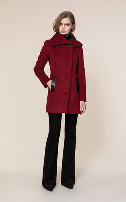Soia & Kyo JENNA slim-fit wool coat with asymmetrical collar