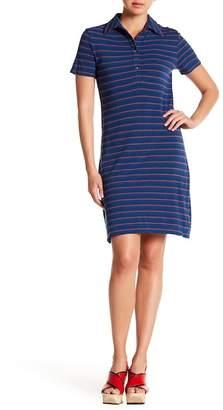 Max Studio Striped Polo Dress