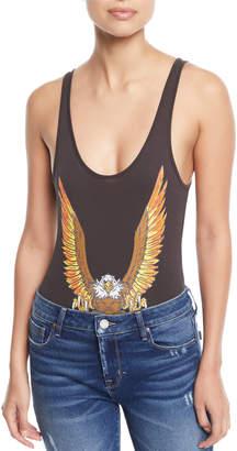 Chaser Eagle Rock Scoop-Neck Bodysuit