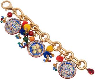Dolce & Gabbana Maiolica Gold-Tone Bracelet