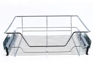 Yosoo Kitchen Sliding Cabinet Organizer,Pull Out Chrome Wire Storage Basket Drawer Kitchen Cabinets,Kitchen Sliding Cabinet Organizer