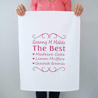 Sparks And Daughters Personalised You're The Best Tea Towel