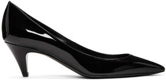 Saint Laurent Black Patent Charlotte Heels