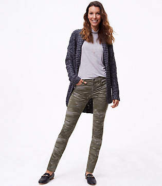 LOFT Tall Camo Skinny Pants