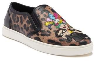 Dolce & Gabbana Leopard Print Slip-On Sneaker