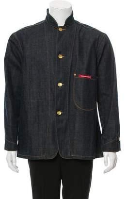 Visionaire Denim Button-Up Jacket