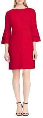 Lauren Ralph Lauren Crepe Bell-Sleeve Sheath Dress