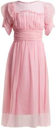 No.21 NO. 21 Gathered-sleeve silk-chiffon dress
