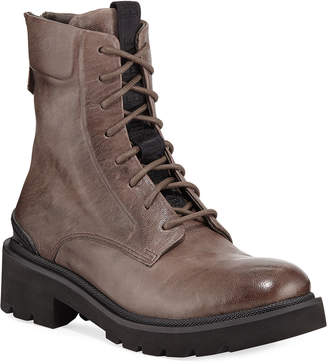 Frye Allison Leather Combat Boots