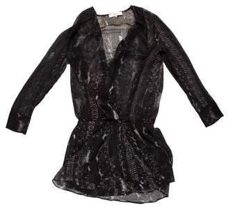 IRO Semi-Sheer Mini Dress