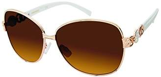 Southpole Women's 447sp-Gldwh Oval Sunglasses