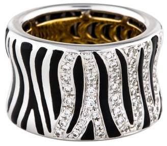 Roberto Coin 18K Onyx & Diamond Zebra Band