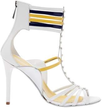 Just Cavalli White Leather Sandals