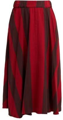 Ace&Jig Eileen Striped Cotton Midi Skirt - Womens - Red Multi