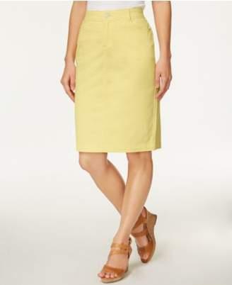 Charter Club Denim Pencil Skirt, Created for Macy's