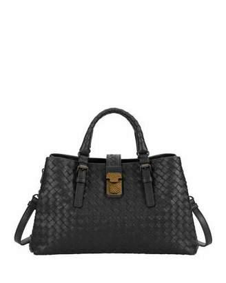 Bottega Veneta Roma Small Woven Top Handle Bag