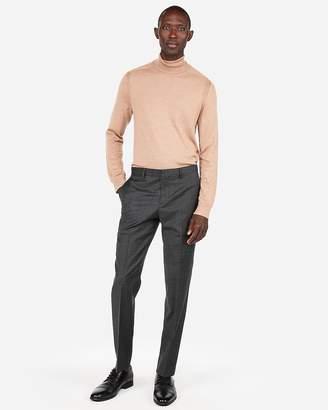 Express Merino Wool-Blend Thermal-Regulating Solid Turtleneck Sweater