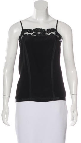Marc Jacobs Marc Jacobs Lace-Trimmed Sleeveless Top