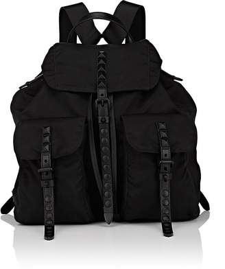 Prada Women's Leather-Trimmed Backpack