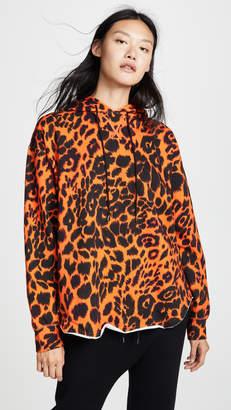 R 13 Leopard Shirttail Hoodie