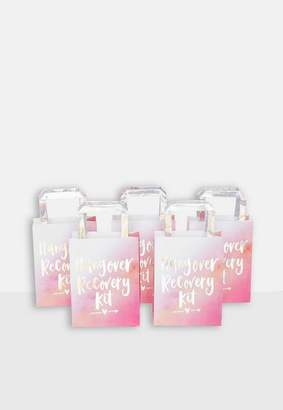 Missguided Ray Iridescent and Pink Hangover Recovery Party Bags