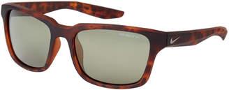 Nike EV1004 Essential Spree Matte Tortoiseshell-Look Square Sunglasses