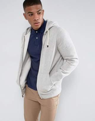 Polo Ralph Lauren Plain Jersey Zip Up Hoodie In Grey