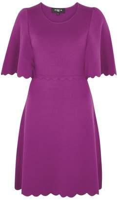 Paule Ka Violet Scalloped Stretch-knit Dress