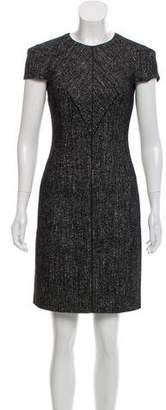 Versace Silk & Wool-Blend Tweed Dress