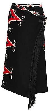 Ralph Lauren Women's Ganado Double Belt Fringe Skirt
