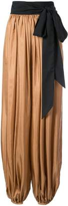 Kalita draped flared trousers