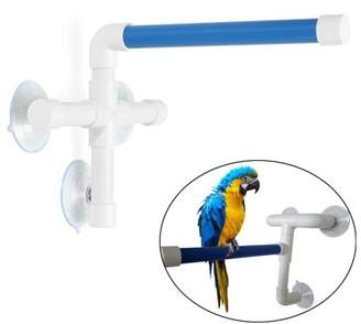 Generic Plastic Bird Perches Parrot Budgie Foldable Suction Cup Window Shower Bath Wall Paw Grinding Stand Toy