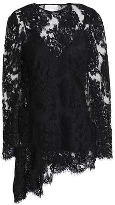 Zimmermann Asymmetric Cotton-Blend Corded Lace Top