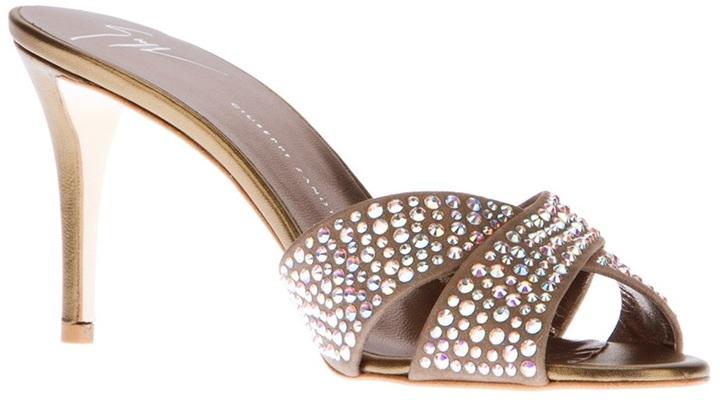 Giuseppe Zanotti Design Crystal strap mule