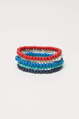 H&M 5-pack Elastic Bracelets - Turquoise/multicolored - Men