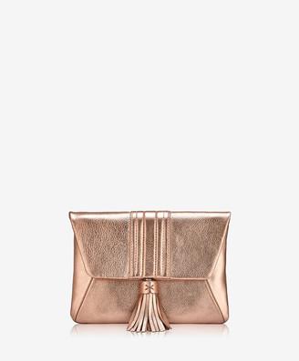 GiGi New York Ava Clutch, Rose Gold Metallic Goatskin