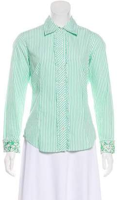 Lilly Pulitzer Long Sleeve Button-Up Blouse