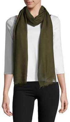 Lord & Taylor Fringe Accented Wrap Scarf
