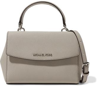 MICHAEL Michael Kors - Ava Mini Textured-leather Shoulder Bag - Stone $178 thestylecure.com