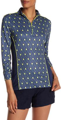 Peter Millar Long Sleeve Sun Comfort Print Zip Neck Jacket $89.50 thestylecure.com