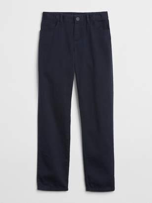 153fddb6b48db4 Gap Kids Uniform Straight Chino Pants in Stretch