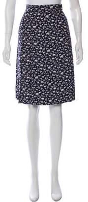 Burberry Printed Knee-Length Skirt Navy Printed Knee-Length Skirt