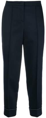 Fabiana Filippi embellished cuff cropped trousers
